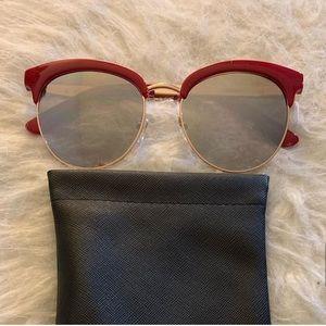 Quay Australia -Cherry Sunglasses red & gold